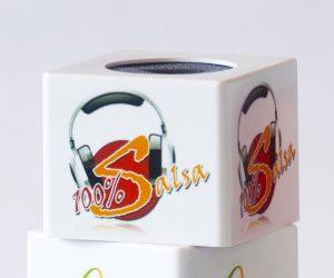 Cubiletes microfono con logo