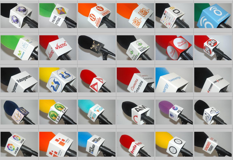 Cubo de Micrófonos Personalizados